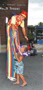 Girl and Tall Clown.tif