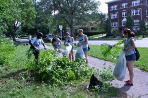 This group of students flew all the way from New Jersey to participate in the SkillsUSA conference in Kansas City this week. On June 27, the volunteered to clear brush from Kessler Park. Micah Wilkins