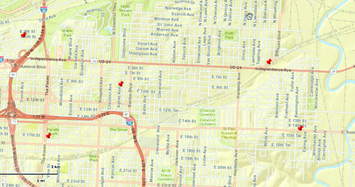 Map of Northeast cooling center locations.