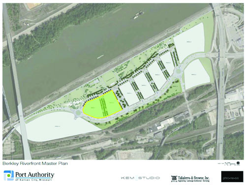 The highlighted area to the left are the parcels Flaherty & Collins will be leasing.