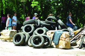 Mounds of trash were collected over the past week by members of a National Youth Conference.