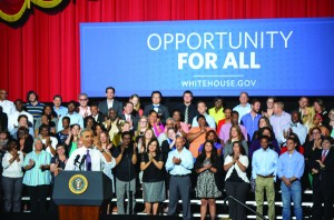 President Barack Obama visited Kansas City Wednesday to give a speech about the economy at the Uptown Theater.