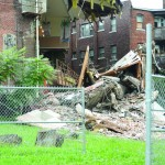 The backside of a church, located at Independence Avenue and Benton Boulevard collapsed Thursday morning.