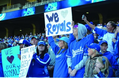 Royals fans filled almost the entire lower level during the team's fan rally.