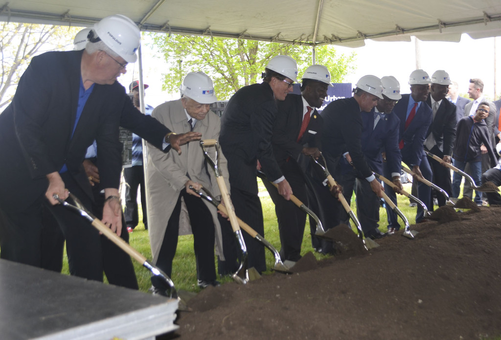 Project partners officially break ground on the $14 million Kansas City Urban Youth Academy, to be located in Parade Park