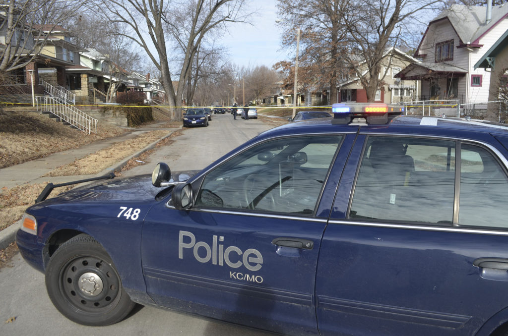Police converged on the scene of a shooting at N. Chelsea and Scarritt on the afternoon of Wednesday, January 4.