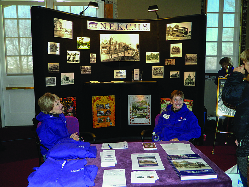 The Northeast Kansas City Historical Society set up a booth at the 2016 edition of the Old House Expo.