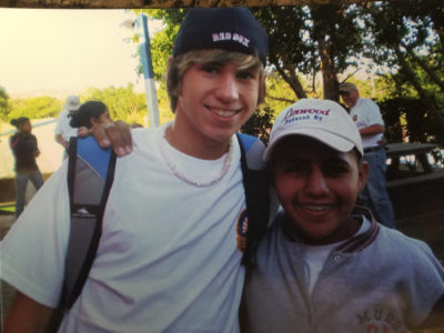 Landon on a mission trip in Nicaragua.