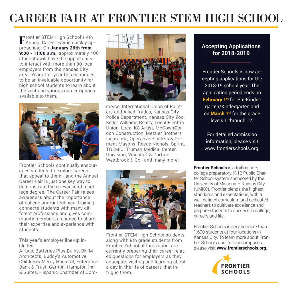 What Is Stem At High School: Career Fair At Frontier STEM High School