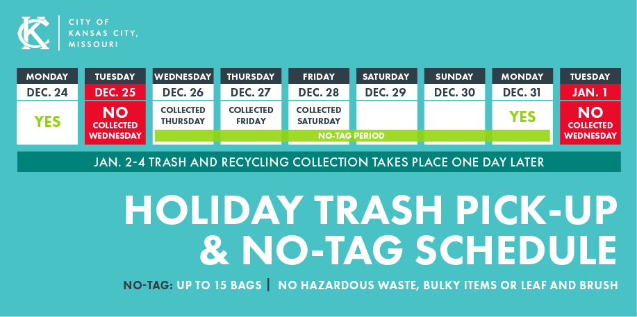 Northeast News | Holiday trash schedule, no tag details